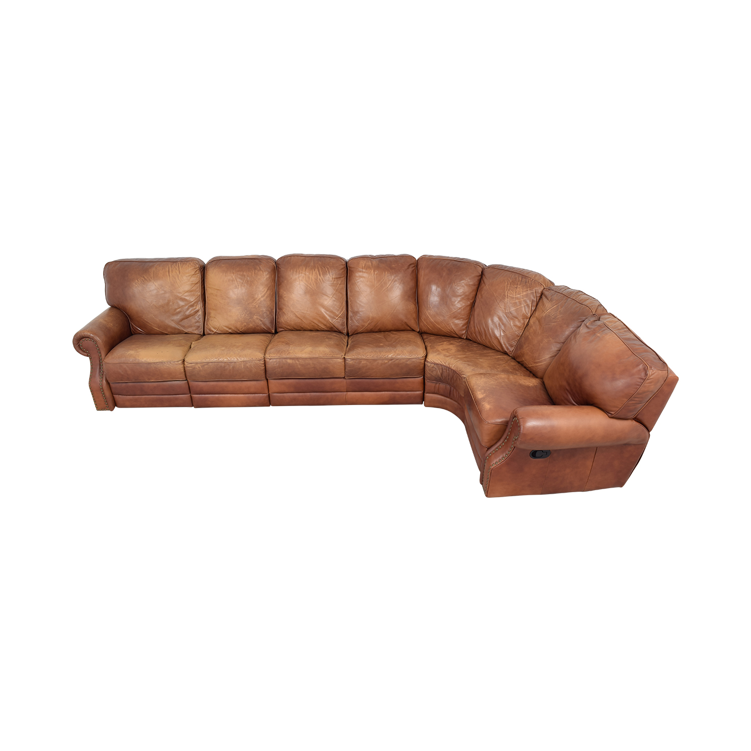 Astounding 70 Off Decoro Decoro Leather Sectional Sofa Sofas Unemploymentrelief Wooden Chair Designs For Living Room Unemploymentrelieforg