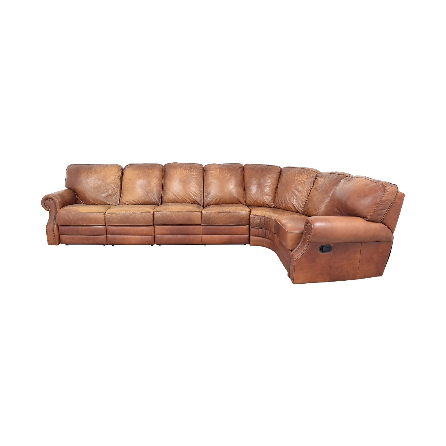 shop DeCoro Leather Sectional Sofa DeCoro