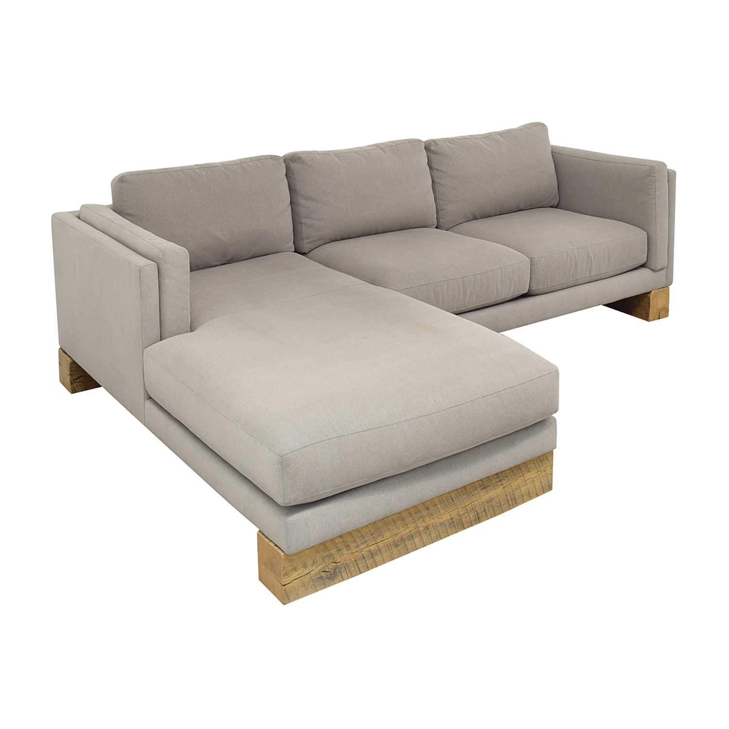 Room & Board Room & Board Custom Sectional with Railroad Ties coupon
