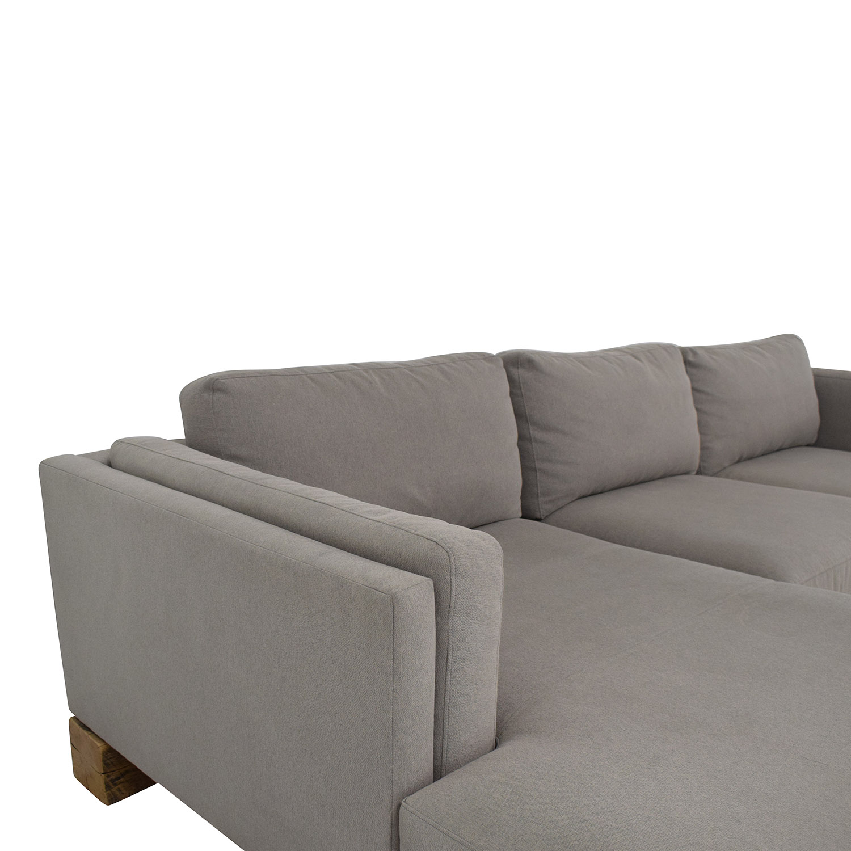 buy Room & Board Custom Sectional with Railroad Ties Room & Board Sofas