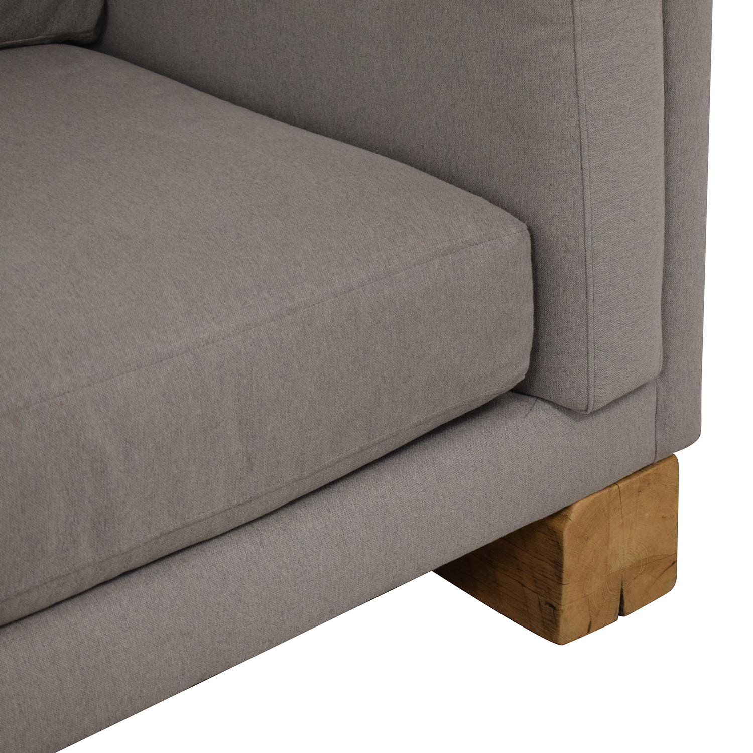 buy Room & Board Custom Sectional with Railroad Ties Room & Board Sectionals