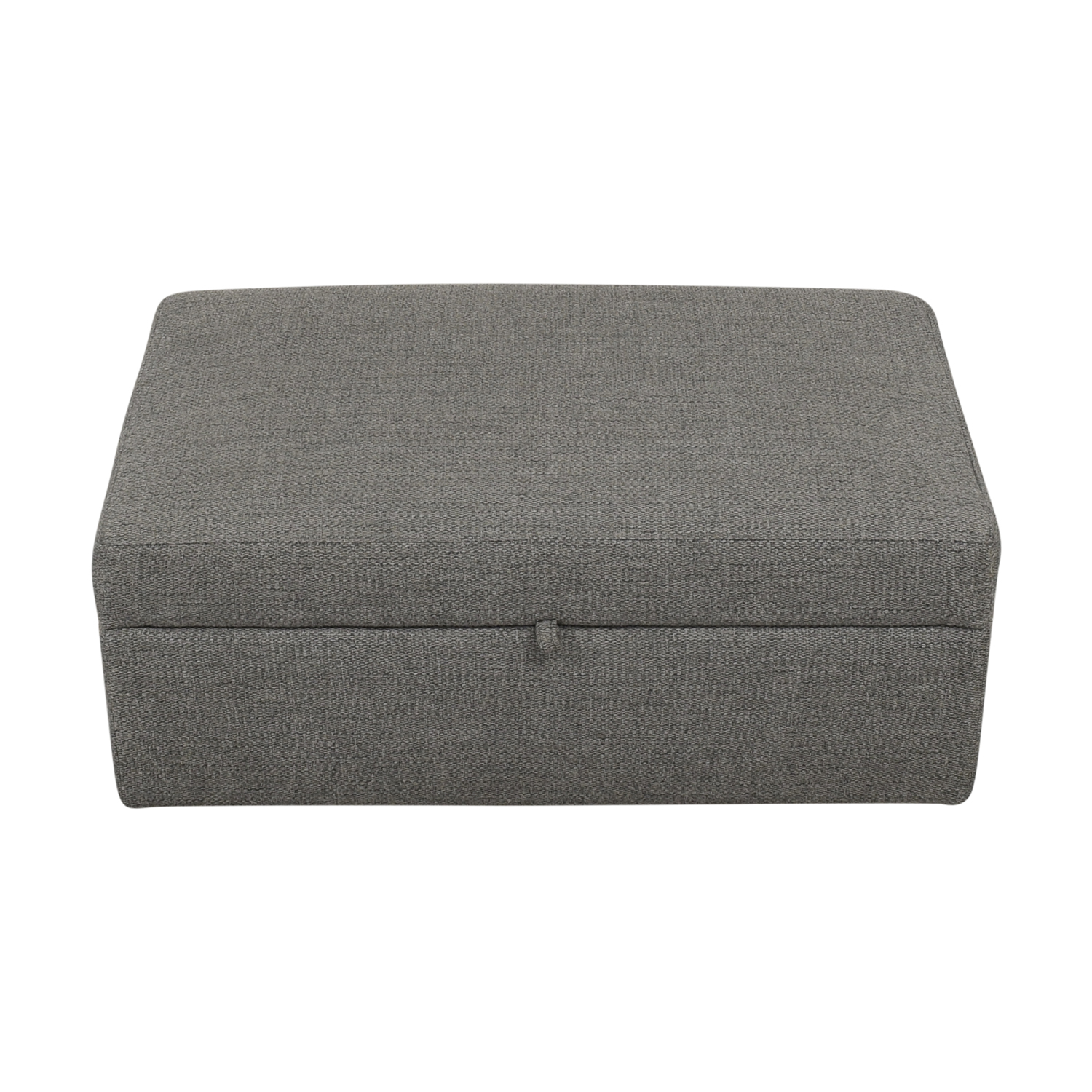 Crate & Barrel Barrett Storage Ottoman with Tray and Casters ma