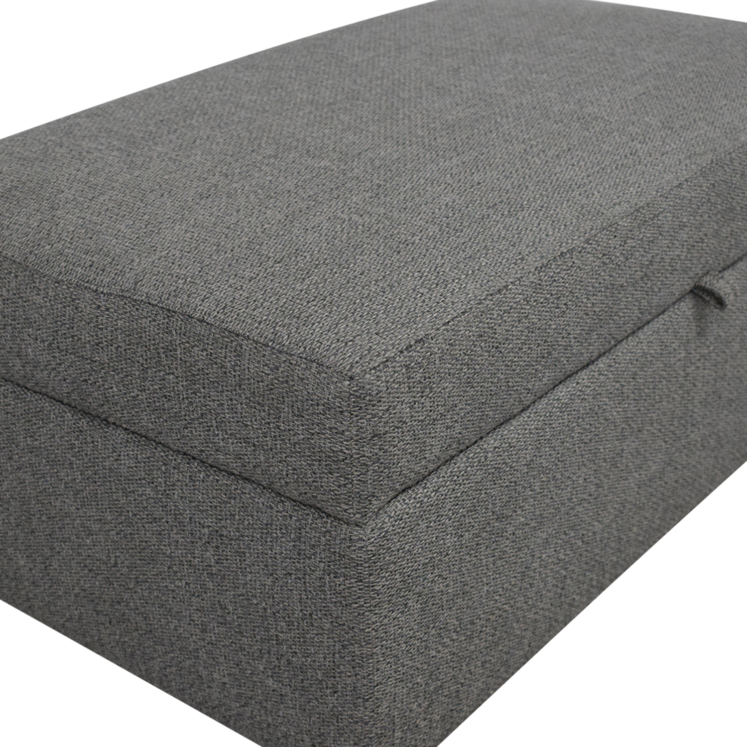 Crate & Barrel Barrett Storage Ottoman with Tray and Casters discount