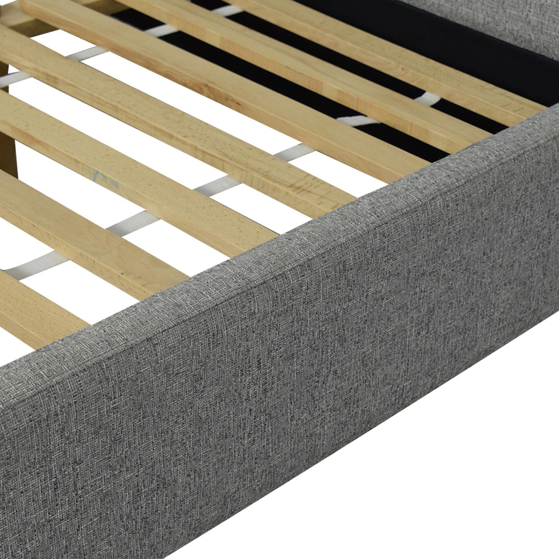 shop West Elm West Elm Contemporary Upholstered Storage Queen Bed online