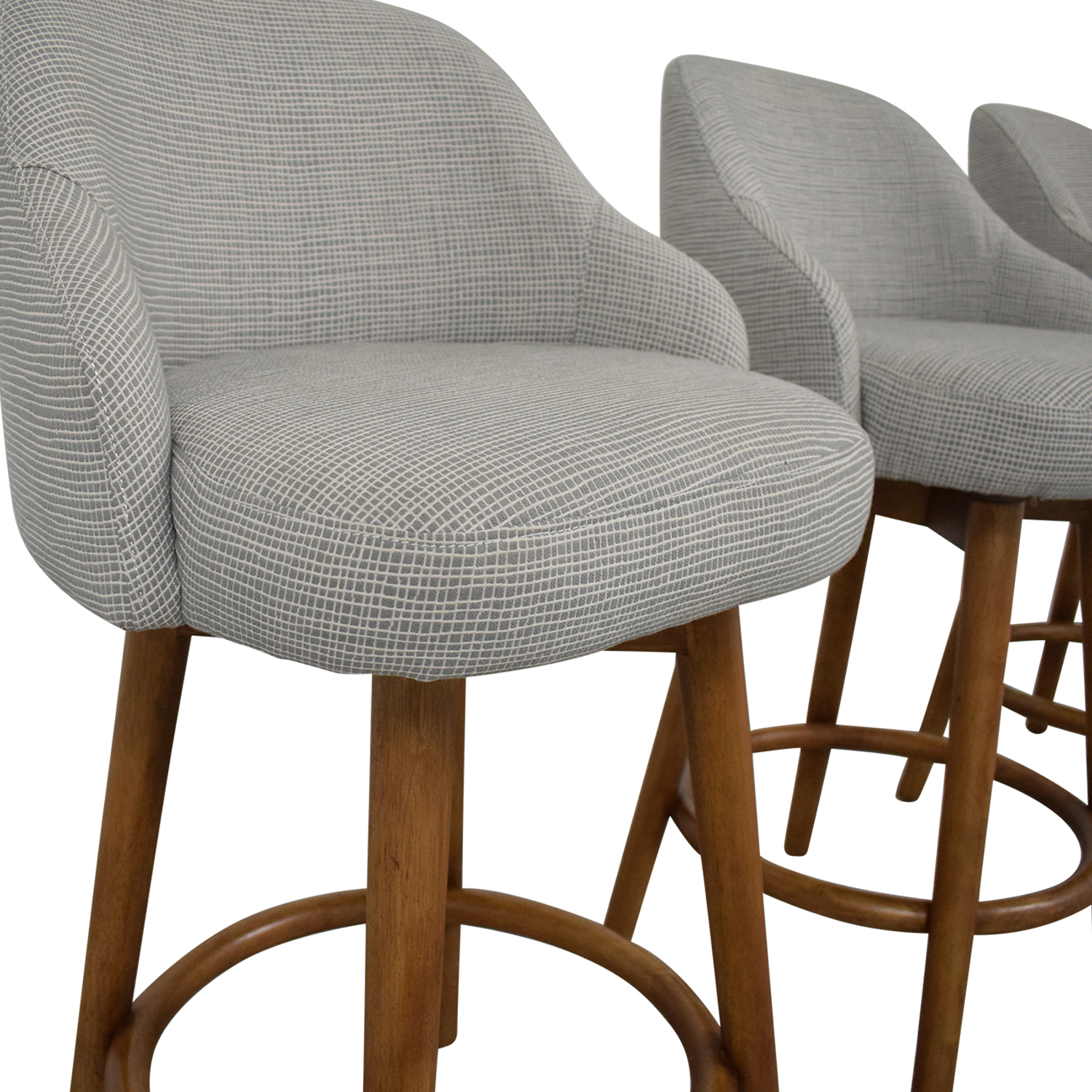 West Elm West Elm Mid-Century Swivel Upholstered Stools second hand
