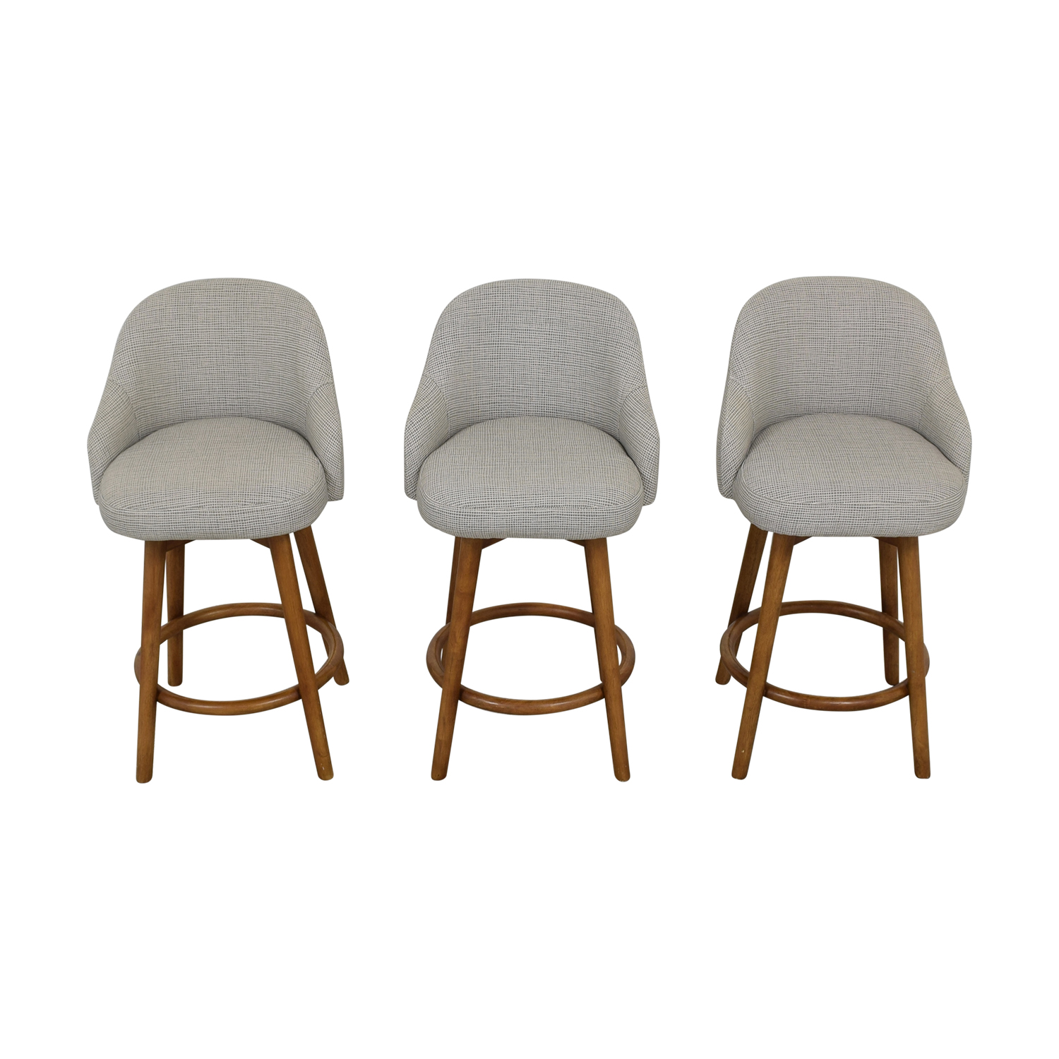 West Elm West Elm Mid-Century Swivel Upholstered Stools discount
