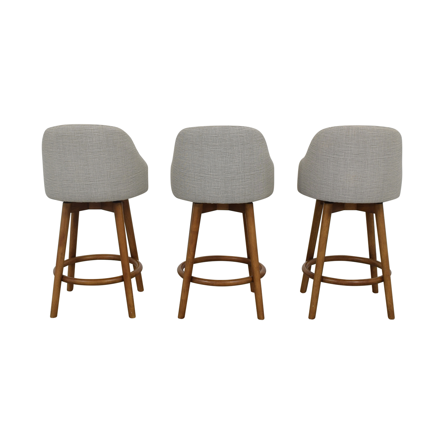 shop West Elm Mid-Century Swivel Upholstered Stools West Elm Chairs