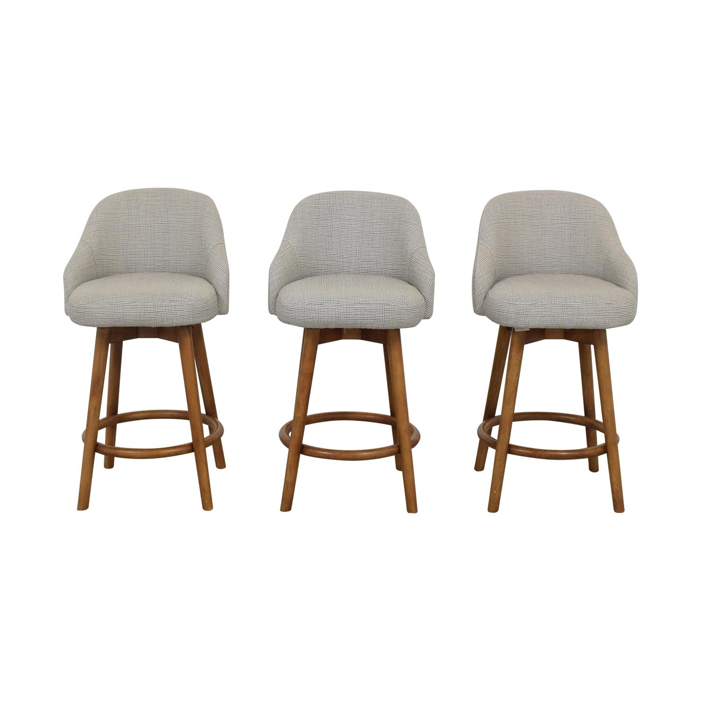 buy West Elm Mid-Century Swivel Upholstered Stools West Elm Stools
