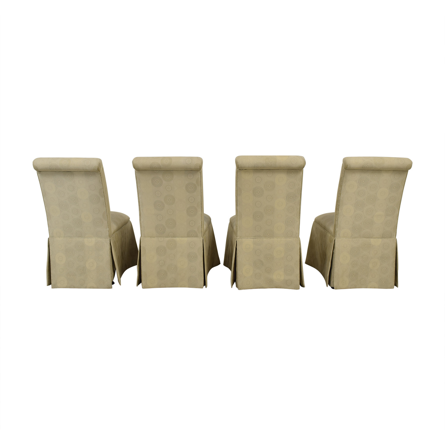 Ethan Allen Ethan Allen Skirted Dining Chairs tan