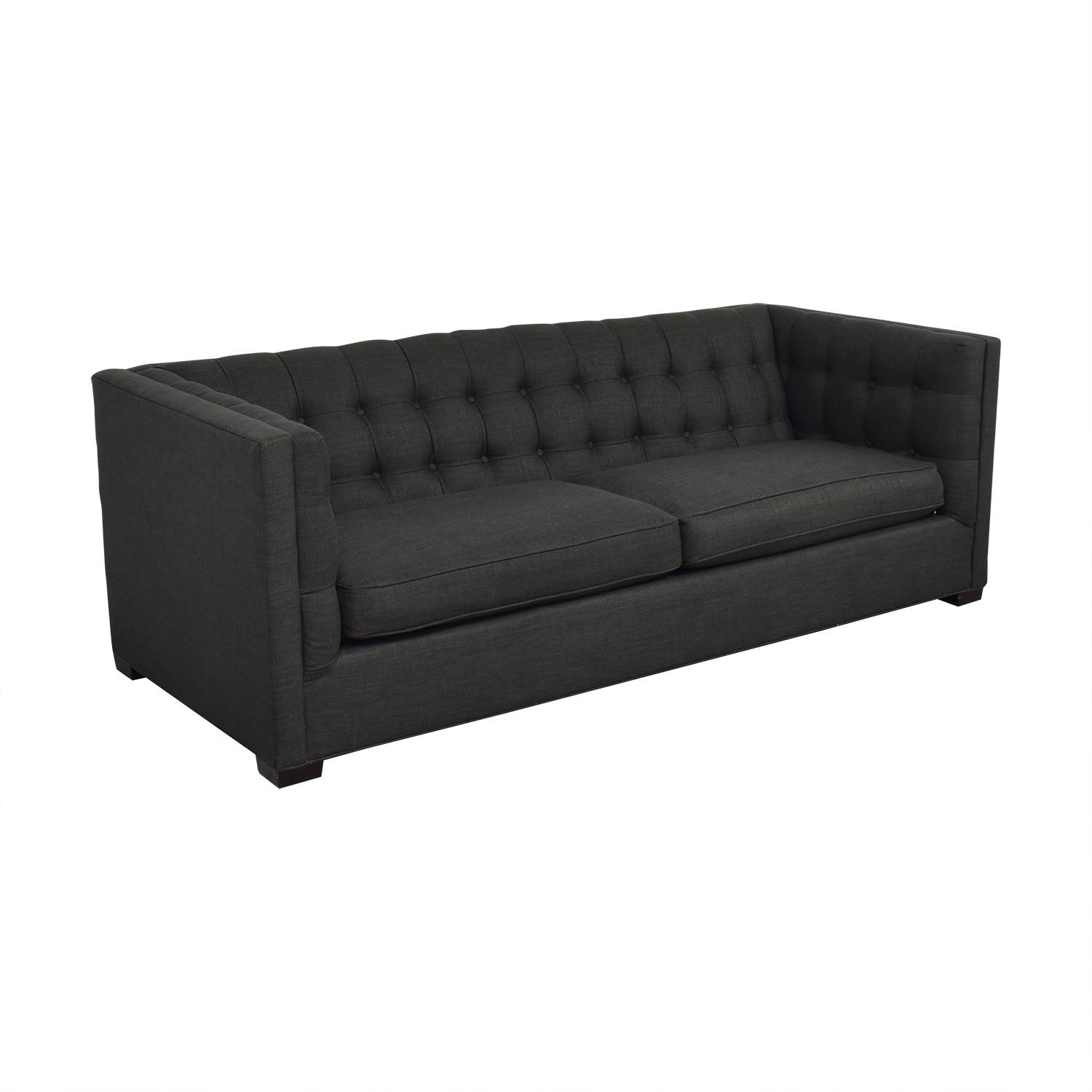 Raymour & Flanigan Raymour & Flanigan Tufted Tuxedo Sofa on sale