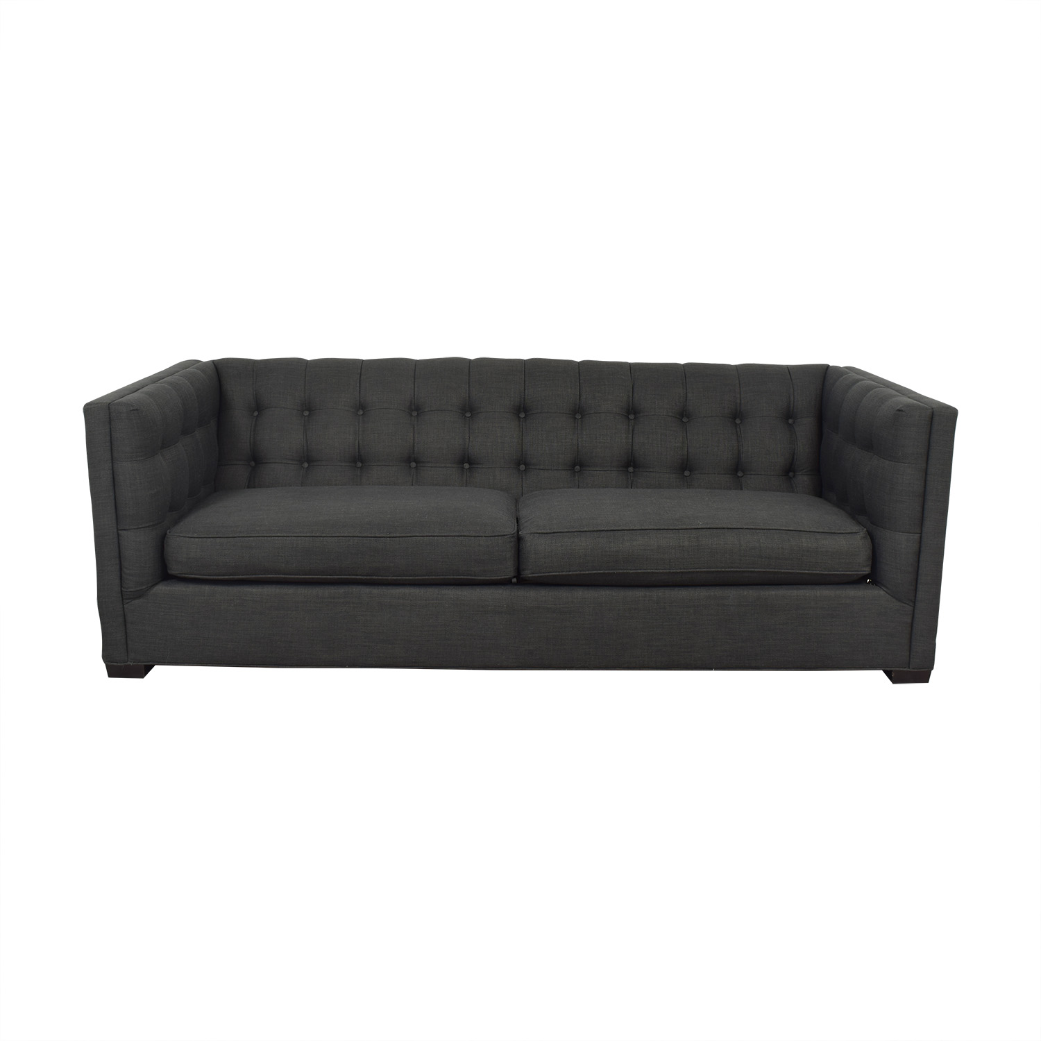 Raymour & Flanigan Raymour & Flanigan Tufted Tuxedo Sofa for sale
