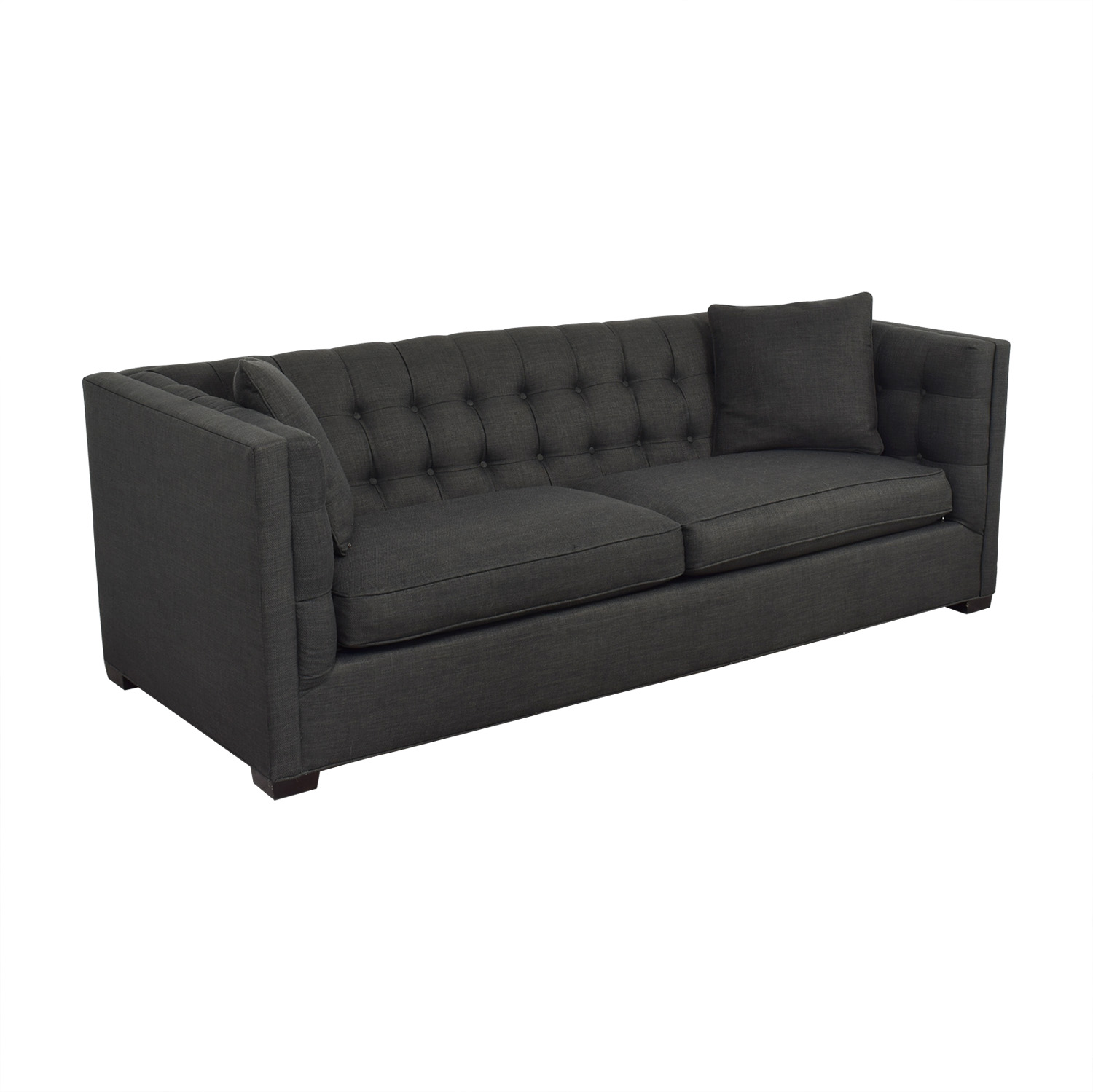 Raymour & Flanigan Raymour & Flanigan Tufted Tuxedo Sofa nj