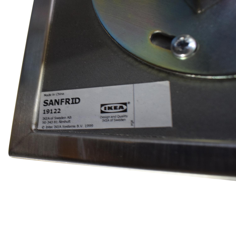 shop IKEA Sanfrid Stainless Steel Industrial Desk IKEA Tables
