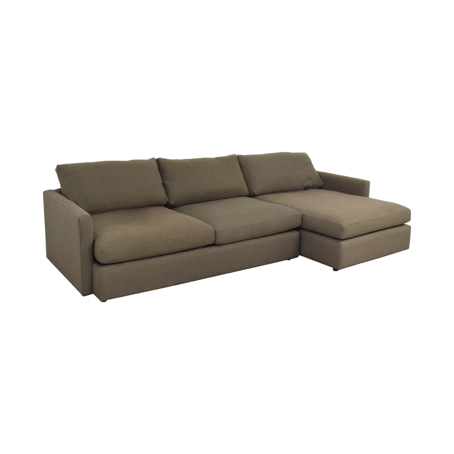 Crate & Barrel Crate & Barrel Two Piece Chaise Sectional Sofa second hand