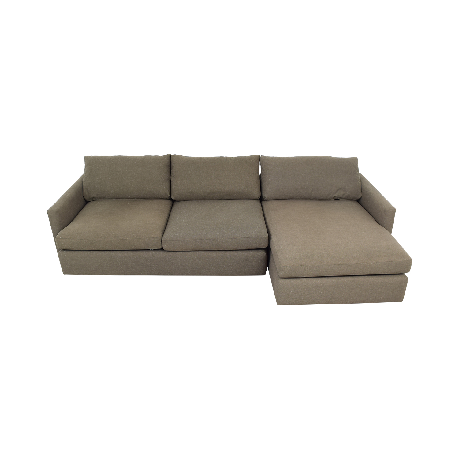 Crate & Barrel Crate & Barrel Two Piece Chaise Sectional Sofa dimensions