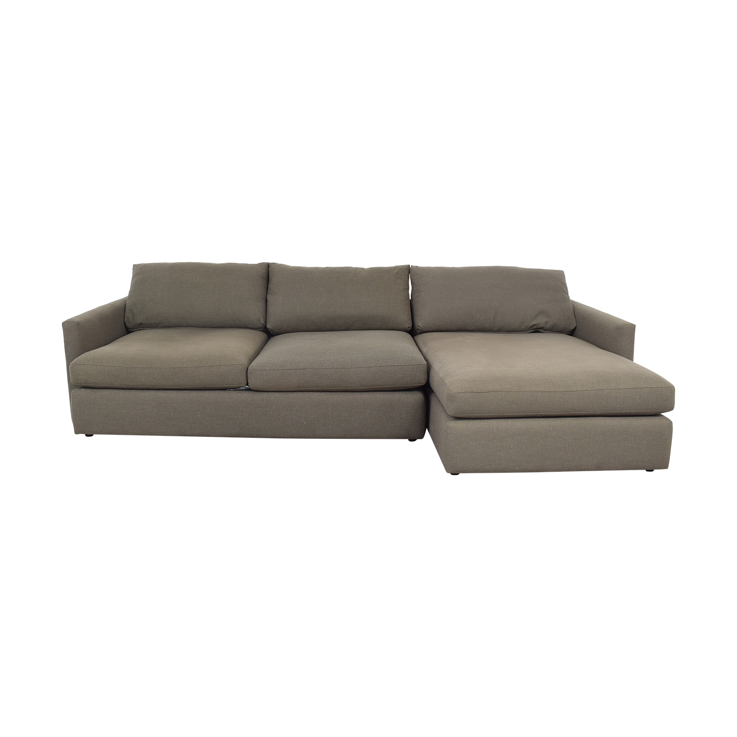 Crate & Barrel Crate & Barrel Two Piece Chaise Sectional Sofa