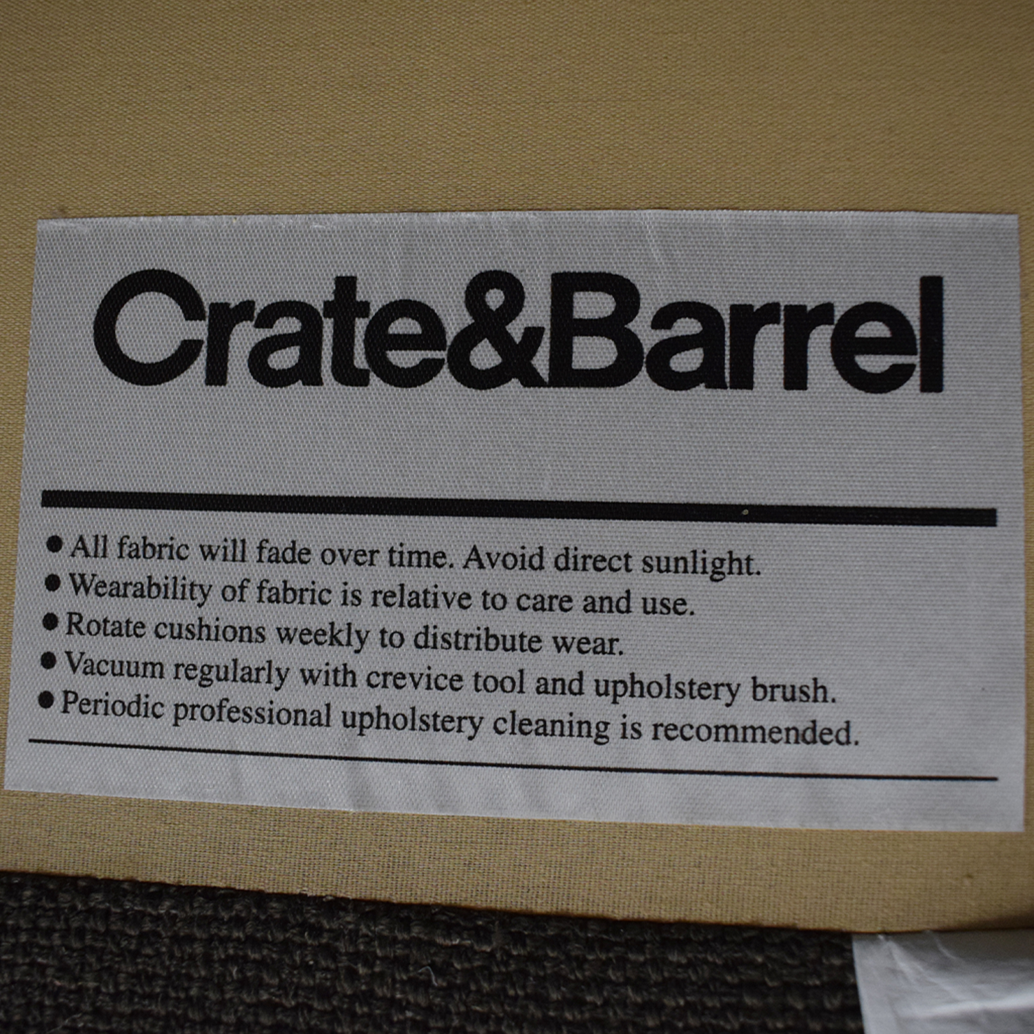 Crate & Barrel Crate & Barrel Two Piece Chaise Sectional Sofa nj