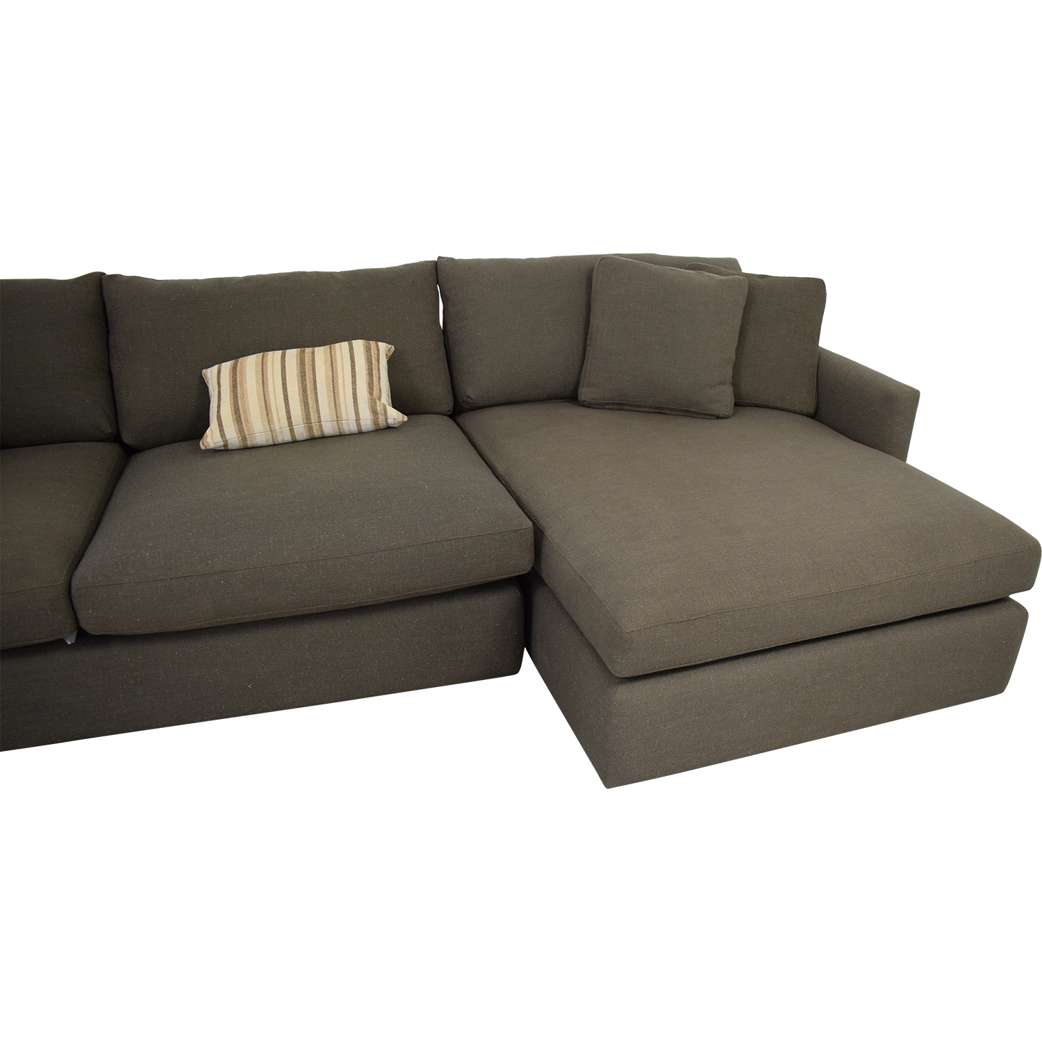 Crate & Barrel Crate & Barrel Two Piece Chaise Sectional Sofa ma