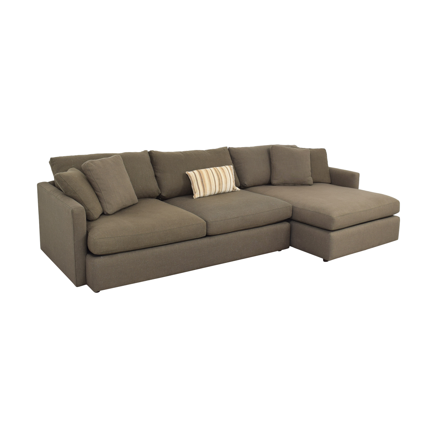 buy Crate & Barrel Two Piece Chaise Sectional Sofa Crate & Barrel Sectionals