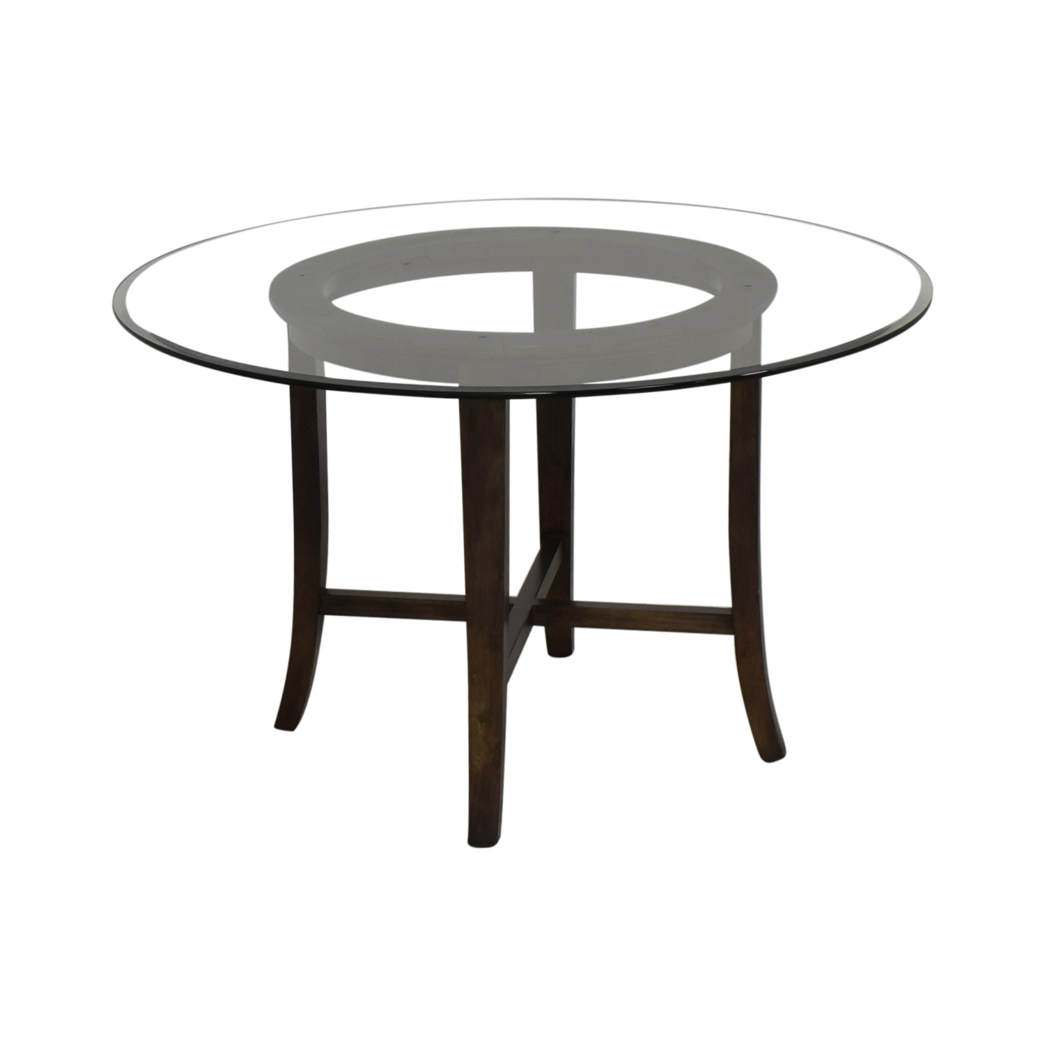 Crate & Barrel Crate & Barrel Halo Round Dining Table for sale