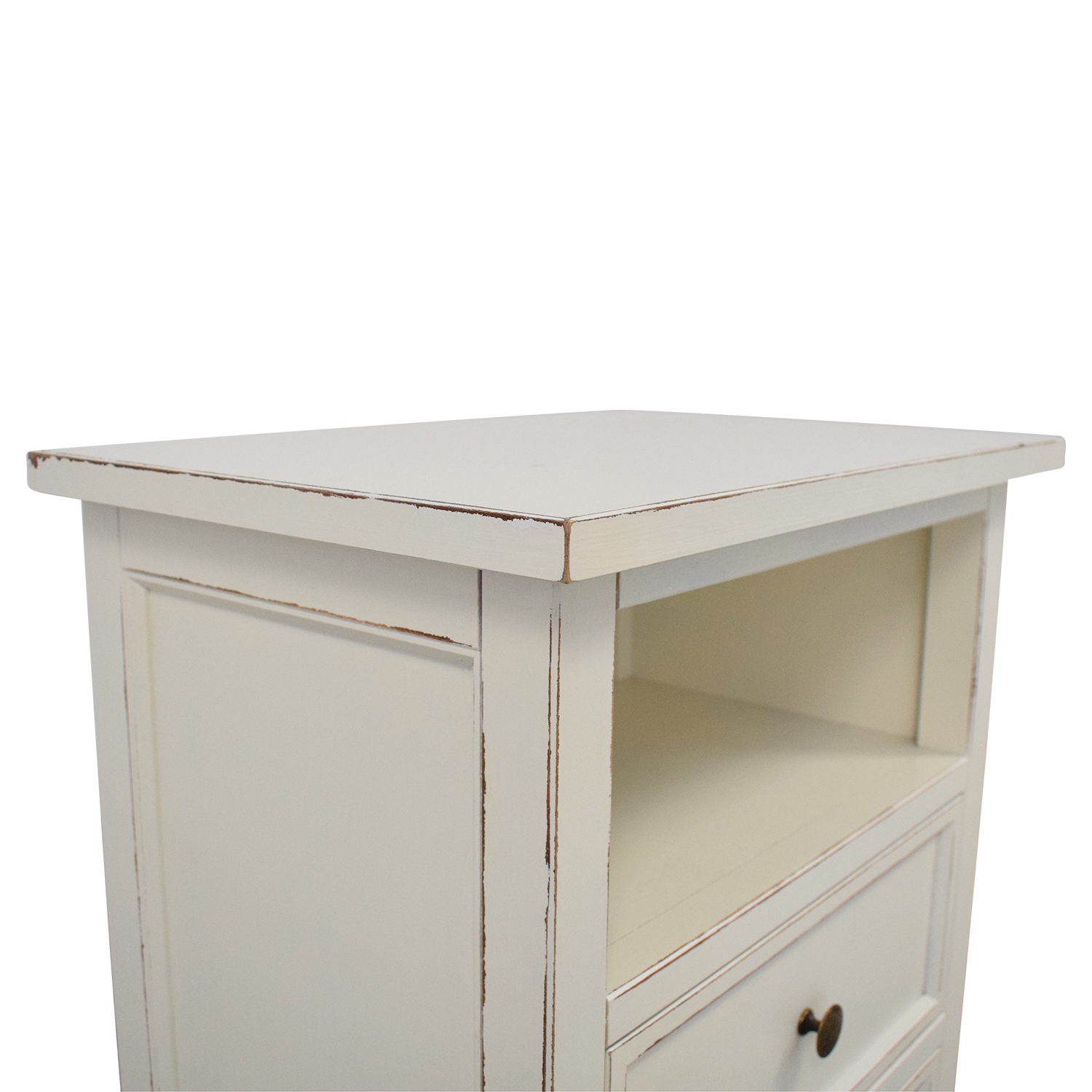 shop Crate & Barrel Harbor Two Drawer Nightstand Crate & Barrel Tables