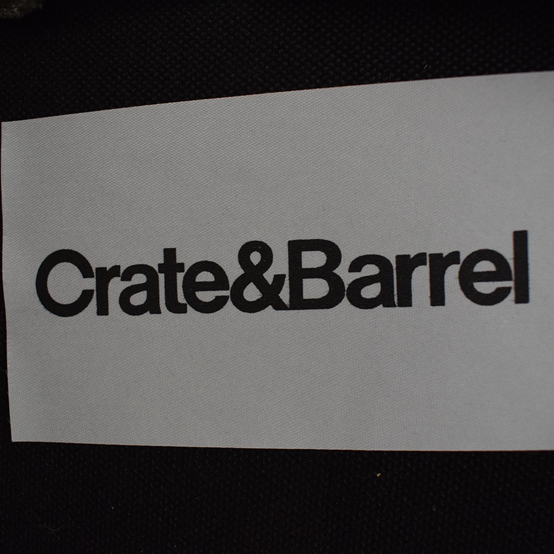 shop Crate & Barrel Storage Ottoman Crate & Barrel