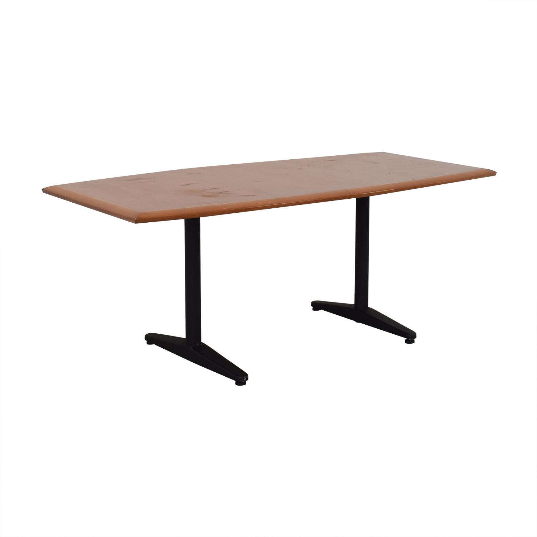 Gunlocke Company Gunlocke Cherry Wood Table used