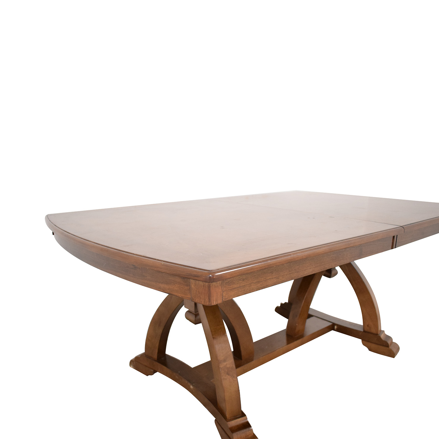 Raymour & Flanigan Raymour & Flanigan Wood Expandable Dining Table Dinner Tables