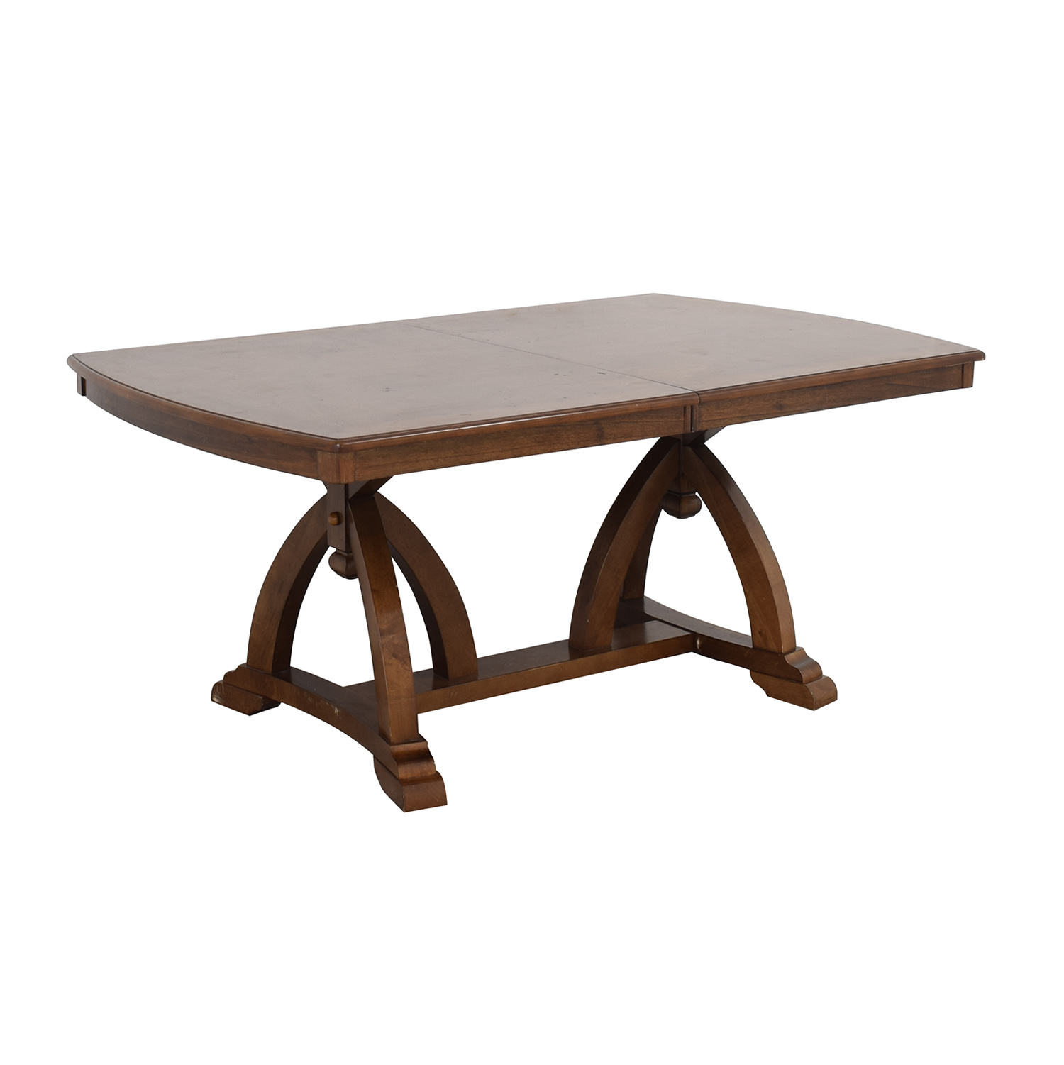 Raymour & Flanigan Raymour & Flanigan Wood Expandable Dining Table Tables