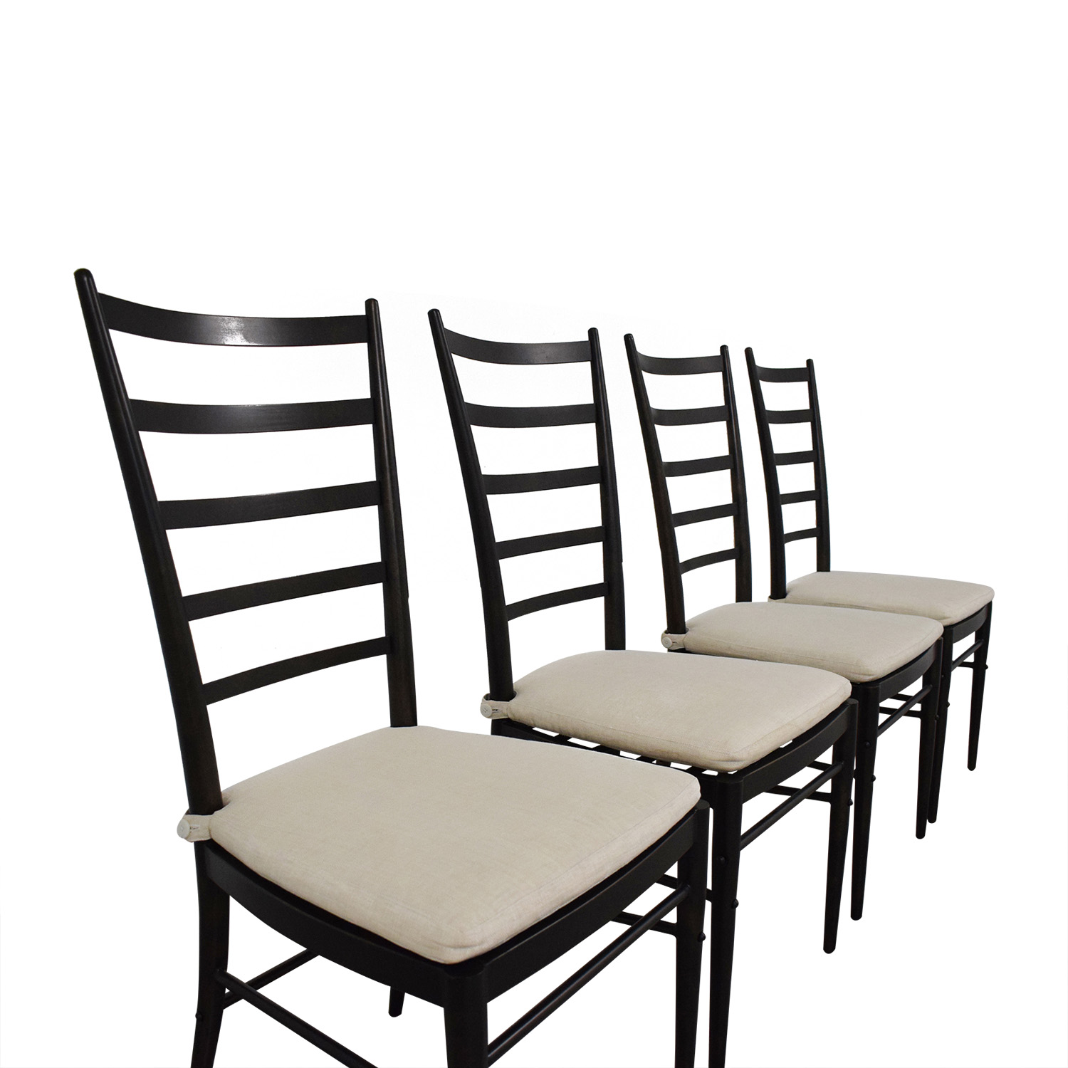 Crate & Barrel Ladder Back Dining Chairs sale