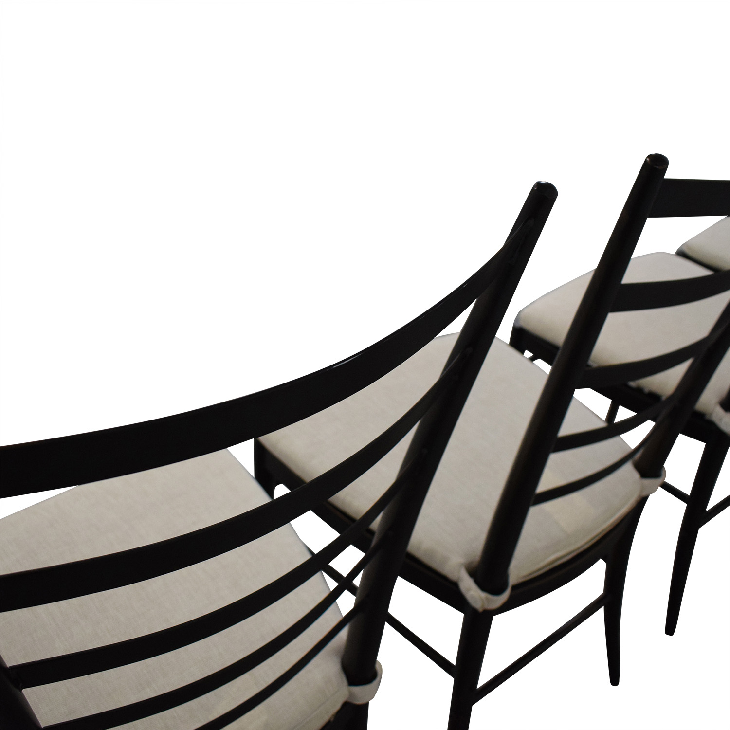 Crate & Barrel Crate & Barrel Ladder Back Dining Chairs pa