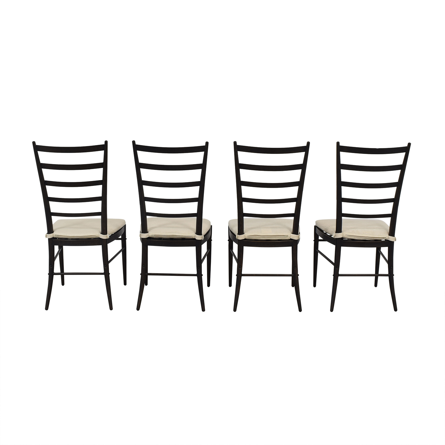 Crate & Barrel Crate & Barrel Ladder Back Dining Chairs beige and black