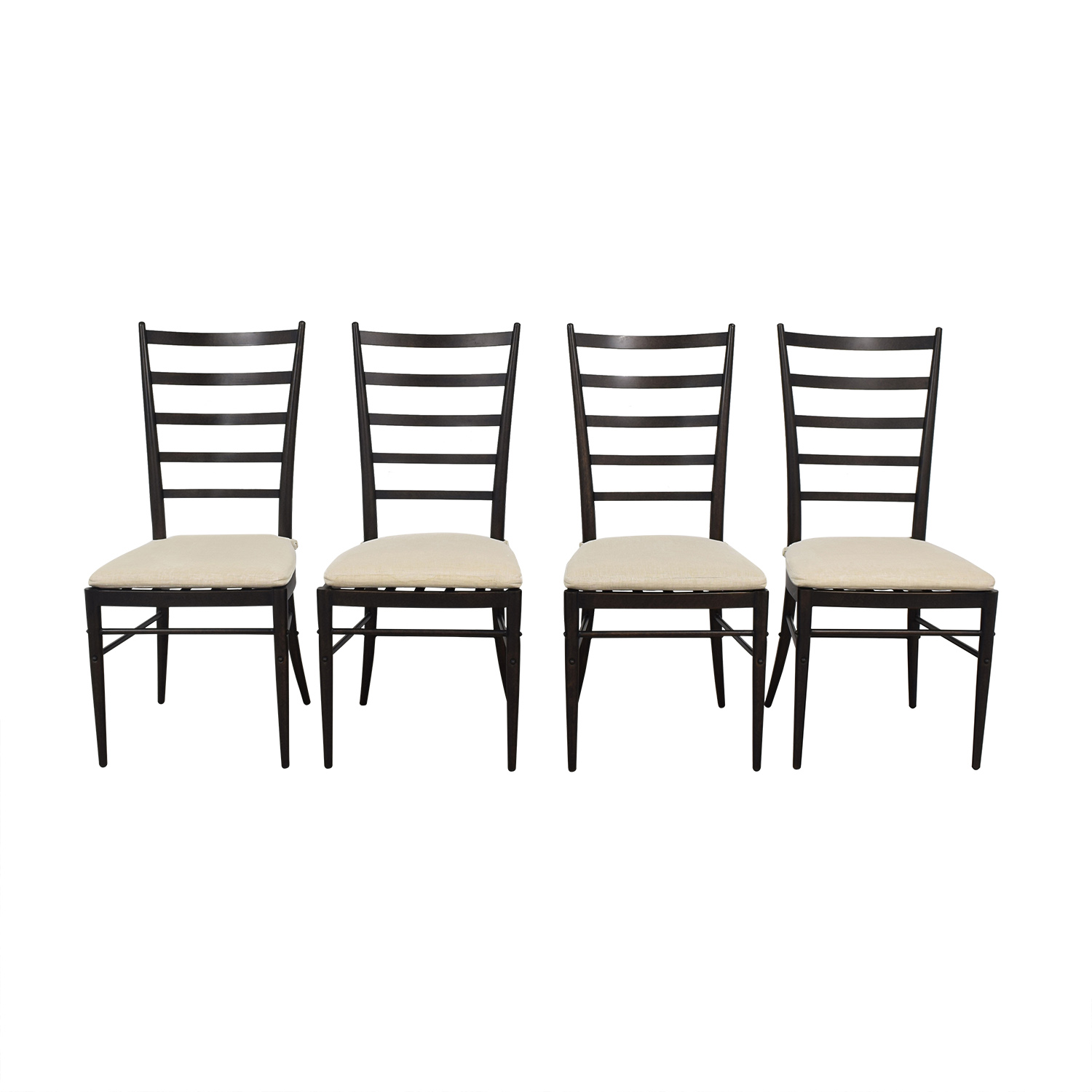 Crate & Barrel Crate & Barrel Ladder Back Dining Chairs for sale