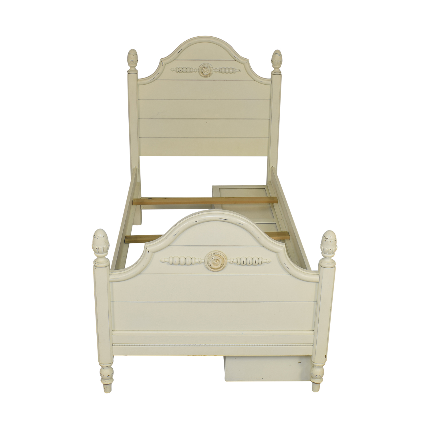 Lexington Furniture Lexington Furniture Distressed Twin Bed with Storage Beds