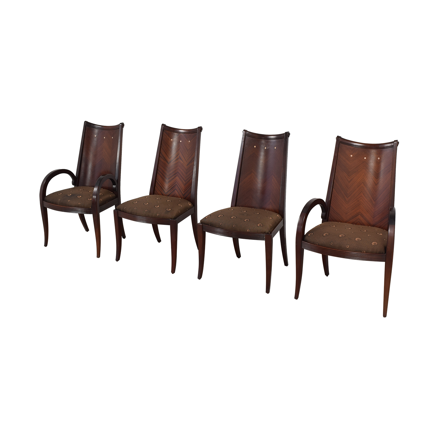 Upholstered Dining Chairs dark brown