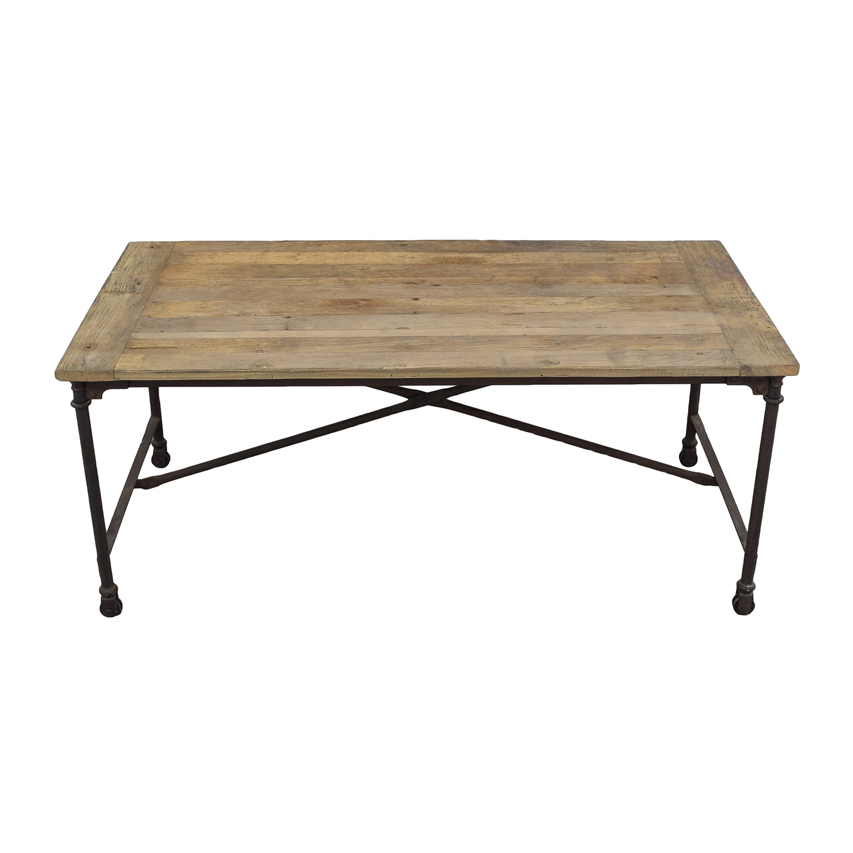 shop Restoration Hardware Flatiron Rectangular Table Restoration Hardware Dinner Tables