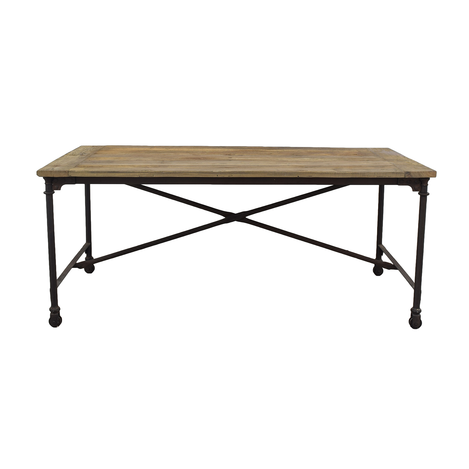 buy Restoration Hardware Flatiron Rectangular Table Restoration Hardware Dinner Tables