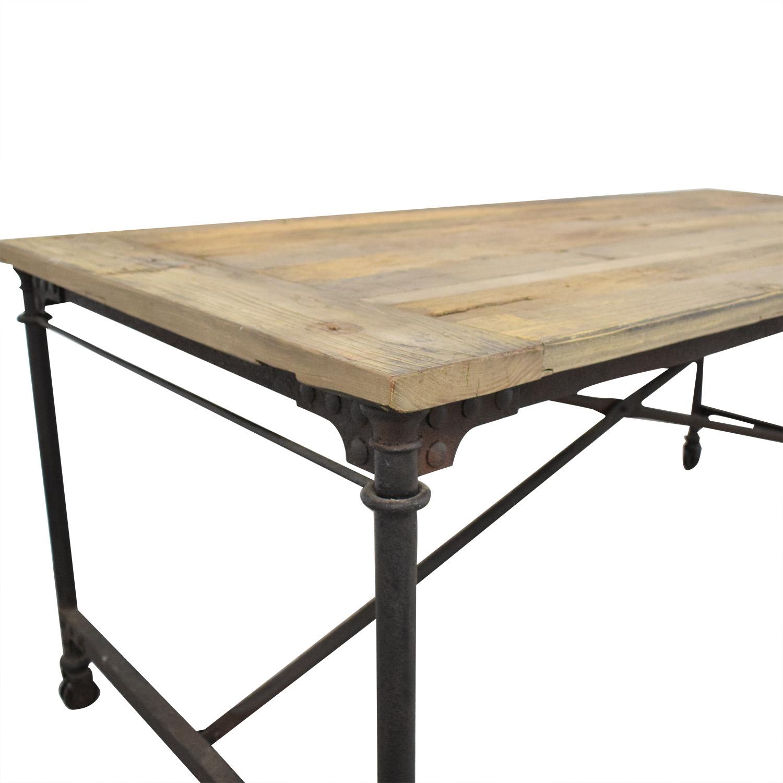 Restoration Hardware Restoration Hardware Flatiron Rectangular Table used