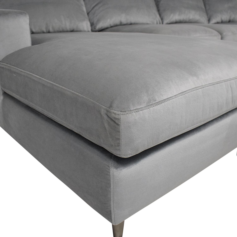 Interior Define Sloan Suede U-Sectional Sofa sale
