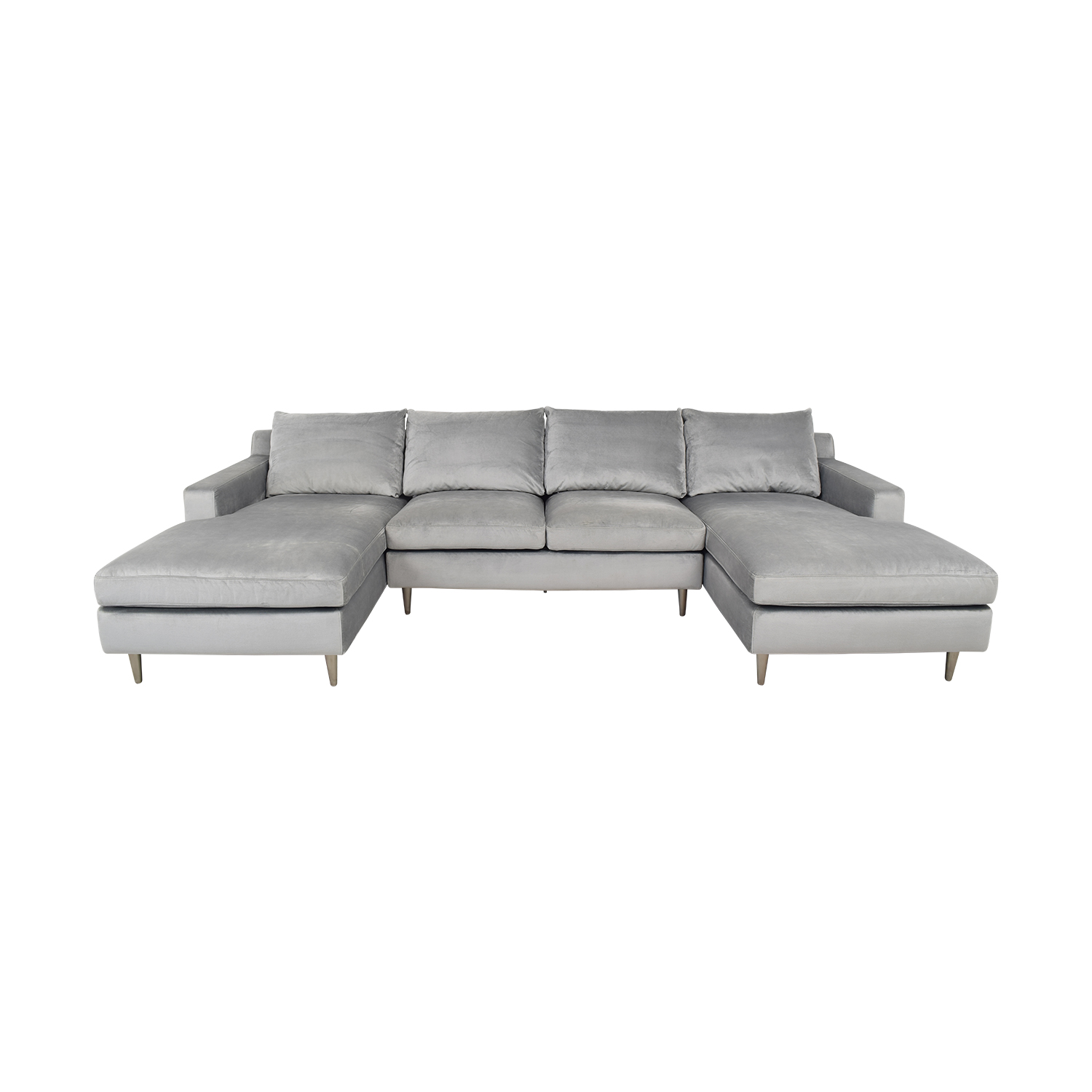 Interior Define Interior Define Sloan Suede U-Sectional Sofa coupon