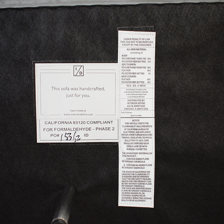 buy Interior Define Sloan Suede U-Sectional Sofa Interior Define Sofas