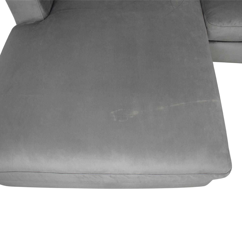 Interior Define Interior Define Sloan Suede U-Sectional Sofa on sale