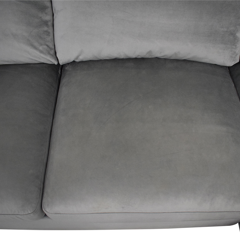 Interior Define Interior Define Sloan Suede U-Sectional Sofa price