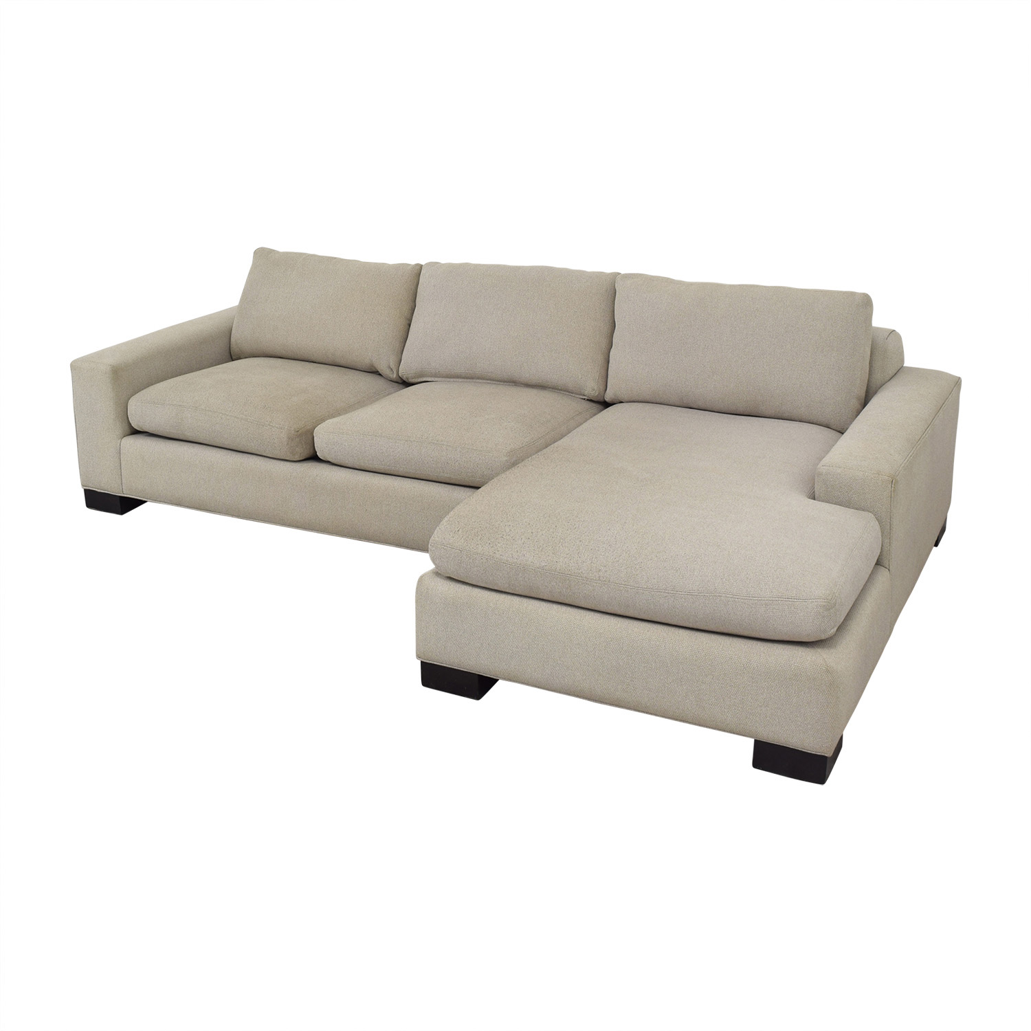 37% OFF - Room & Board Room & Board Chaise Sectional Sofa / Sofas