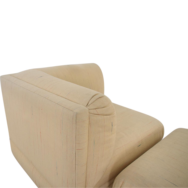 Thayer Coggin Thayer Coggin Lounge Chair with Ottoman on sale