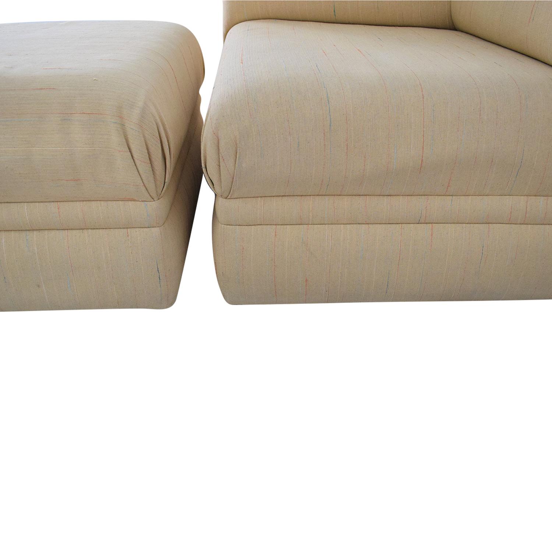 buy Thayer Coggin Lounge Chair with Ottoman Thayer Coggin Loveseats