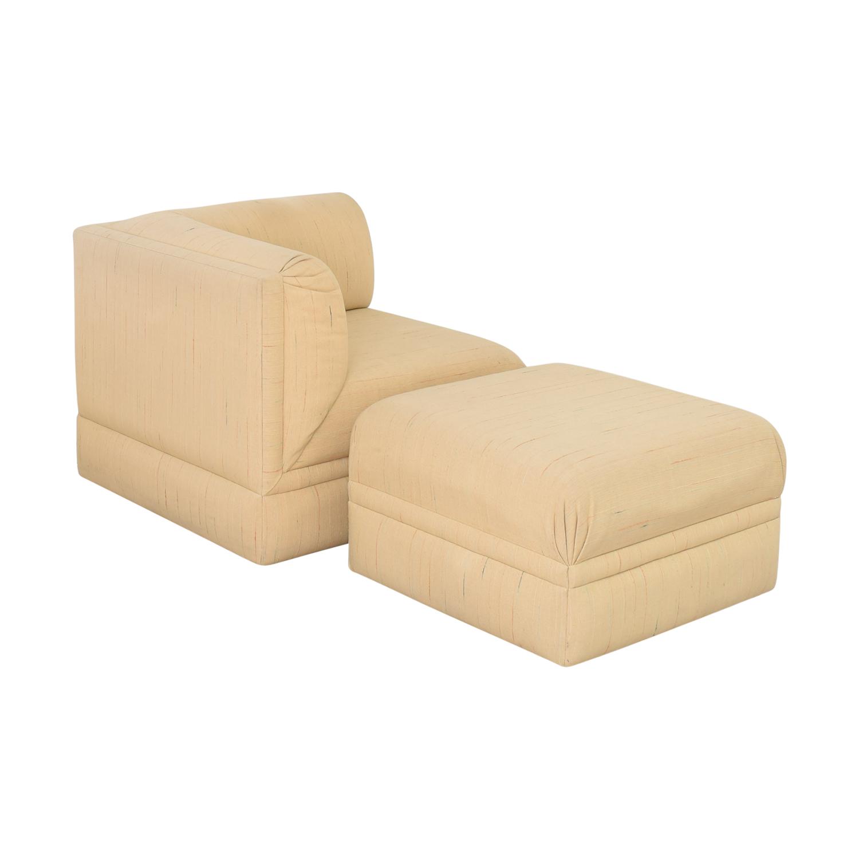 Thayer Coggin Lounge Chair with Ottoman Thayer Coggin
