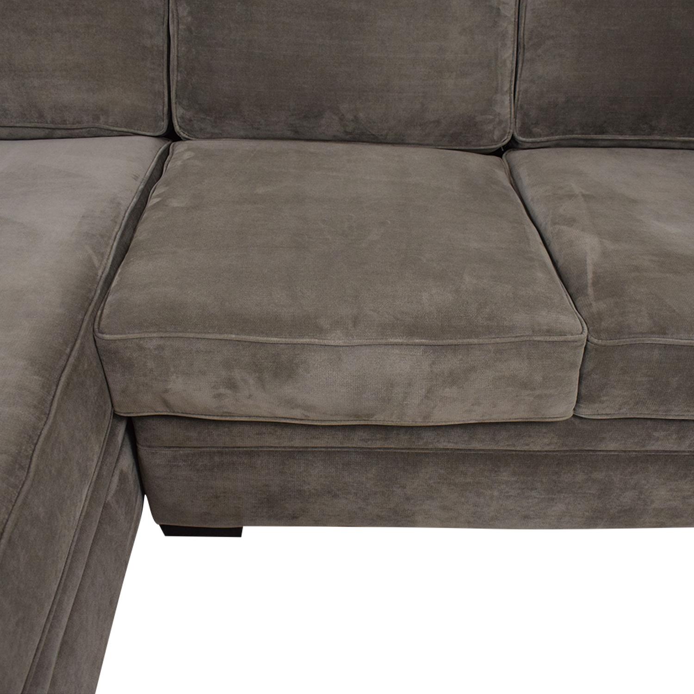 Raymour & Flanigan Raymour & Flanigan Artemis II Microfiber Sectional Sofa Sofas