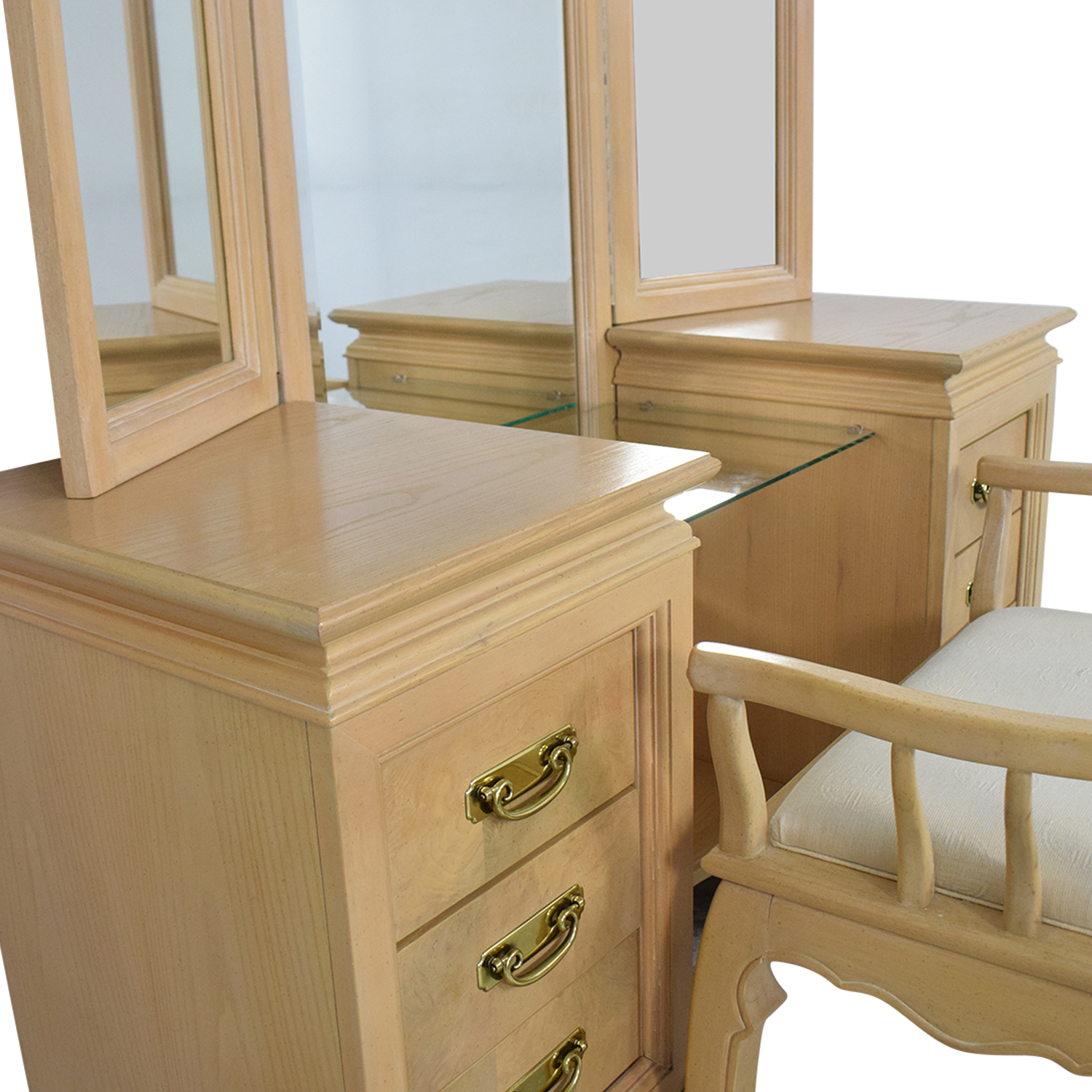 buy Stanley Furniture Vanity with Chair Stanley Furniture Home Office Desks