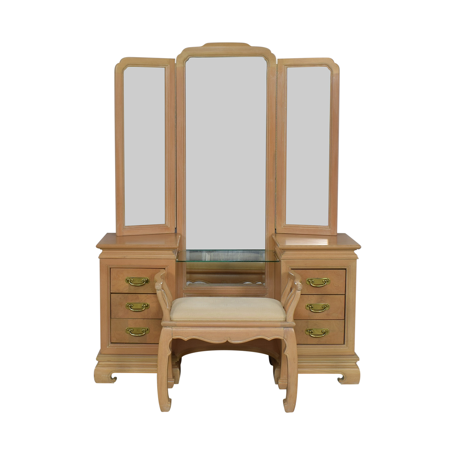 buy Stanley Furniture Vanity with Chair Stanley Furniture Tables